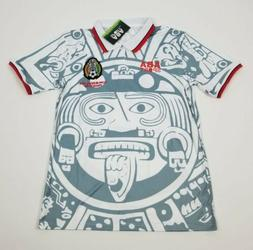 Mexico national team White 1998 retro soccer jersey