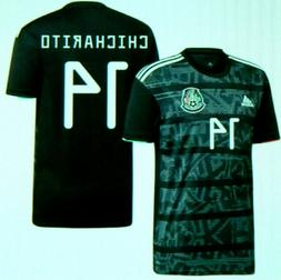 MEXICO NEW 2019/20 HOME BLACK #14 CHICHARITO SOCCER JERSEY