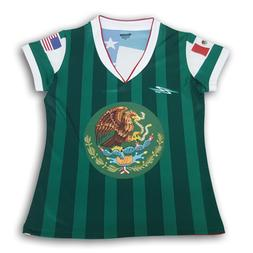 Mexico Women's Soccer Jersey USA Proud Shirt 100% Polyester