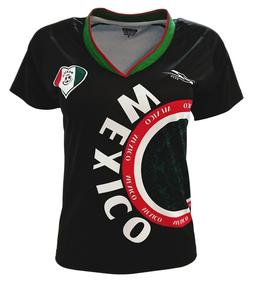 Mexico Women Soccer Jersey Exclusive Design Arza Black Color
