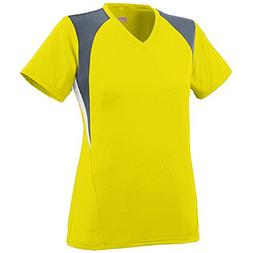 Augusta Sportswear WOMEN'S MYSTIC JERSEY S Power Yellow/Grap