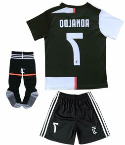 NEW 19-20 Juventus Cristiano RONALDO Home Kids Soccer Jersey