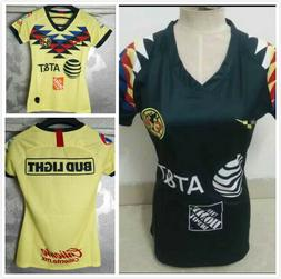 New 2019-20 Club America Home Soccer Jersey Women's clothing