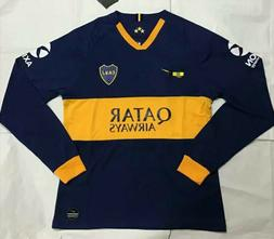NEW 2019 -2020 Boca Juniors Home soccer Jersey Long Sleeve M