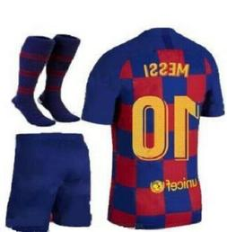 NEW 19/20 BARCELONA HOME MESSI #10 KIDS JERSEY + SHORTS + SO