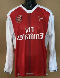 New ARSENAL FC ~ Fly Emirates Long Sleeve PUMA Soccer Jersey