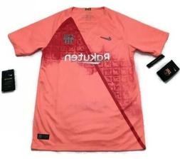NEW Nike Barcelona 18/19 Pink Third Soccer Jersey Youth XL W