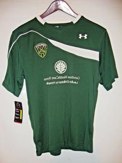 NEW Under Armour Chaos Mens Green Soccer Jersey Charlotte Un