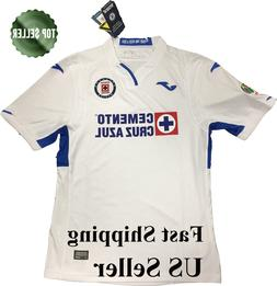 NEW Cruz Azul Soccer Away Jersey Joma Futbol Liga MX Patch M