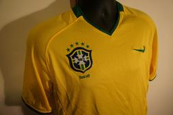 NEW Nike Fit Dry Dri CBF Brasil Authentic Soccer Jersey Size