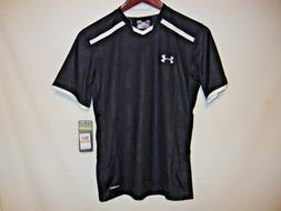 NEW Under Armour Highlight Mens Soccer Jersey Shirt Black /