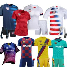 New Kids Men Boys Football Outfit Jersey Soccer Strips Sport