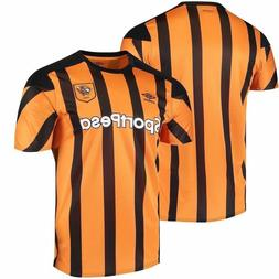 New Umbro Men's Hull City Tigers Home Soccer SportPesa Jerse