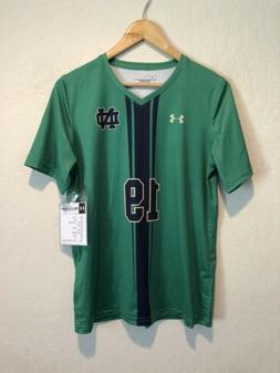 NEW Under Armour Notre Dame Fighting Irish V-Neck Soccer Jer
