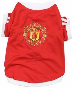 New Pet Apparel FC Manchester United Dog Jersey Soccer Footb