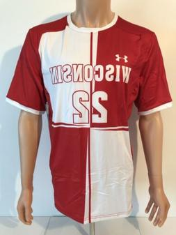 NEW Wisconsin Badgers Under Armour Soccer Authentic Jersey M