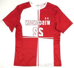 New Under Armour Wisconsin Badgers Soccer Jersey Men's Large