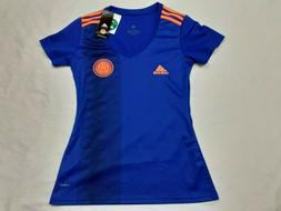 NEW Womens Adidas Colombia Blue Away Soccer Futbol Jersey Cl