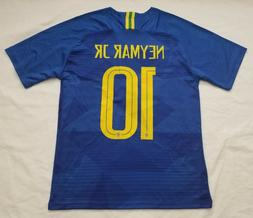 NEYMAR 2018 Men's Brazil National Team Away Soccer Jersey
