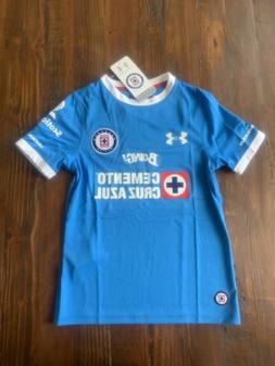 NWT! $65 UNDER ARMOUR DEPORTIVO CRUZ AZUL MEXICO SOCCER JERS