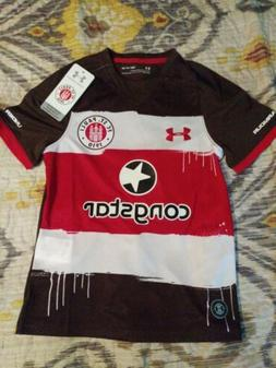 NWT Under Armour FC St. Pauli Soccer Jersey Germany Youth Sm