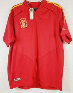 NWT Gold Football Mens Red Espana Jersey Size Large Soccer