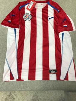 NWT  2004 PUMA Paraguay National Team Home Jersey Large Vint