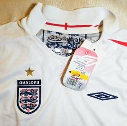 NWT Umbro Youth England Team SOCCER Jersey Large