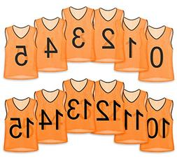 Unlimited Potential Nylon Mesh Numbered Scrimmage Team Pract