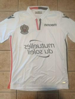 OGC Nice 17/18 Away Replica Blank Jersey White Macron Men's