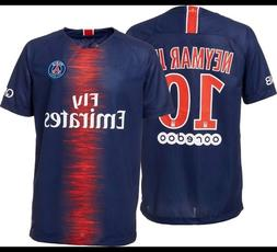 Paris Sain Germain Neymar Jr #10 Soccer Jersey Men/Adult Siz