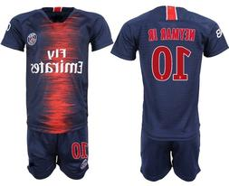 Paris Saint Germain NEYMAR Kids #10 Soccer Kit Jersey and Yo