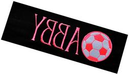 Personalized Monogrammed NEON Soccer Ball Patch Cotton Stret