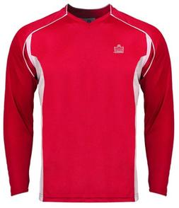 Admiral Plata Long Sleeve Jersey, Scarlet/White, Large