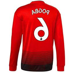 Pogba #6 Manchester United Home Mens Long-Sleeve Soccer Jers
