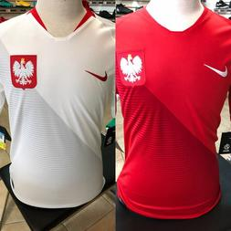 NIKE POLAND WORLD CUP 2018 SOCCER JERSEY HOME or AWAY RED WH