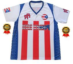 PUERTO RICO SOCCER JERSEY SHORT SLEEVE  SUBLIMATION ALL OVER