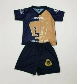 Pumas UNAM New Kid's Away Soccer Jersey And Shorts Futbol Me