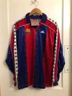 *RARE NEW* BARCELONA FC 1992/95 Kappa Home Futbol Shirt XL V