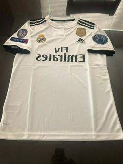 a1c36065389 Adidas Real Madrid Home Soccer Jersey 2018-2019 Champions Pa