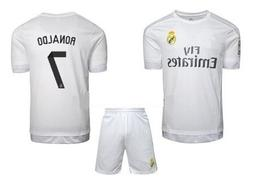 Real Madrid Ronaldo #7 Home Soccer Jersey Kit With FREE SHOR