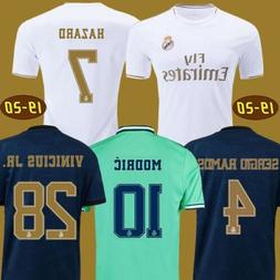 Real Madrid Soccer Jersey 2019/2020 Hazard Modric Ramos And