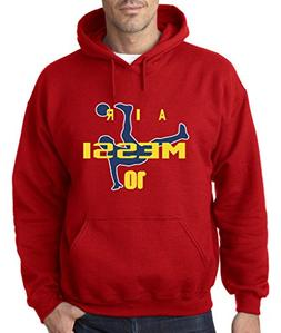 """RED Lionel Messi FC Barcelona """"Air Messi"""" Hooded Sweatshirt"""