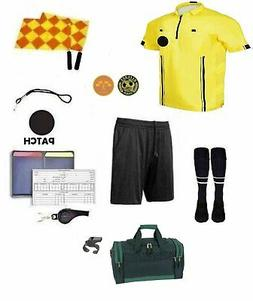 Referee Soccer Package Short Flag Whistles Duffel Bag Yellow