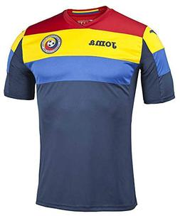 Joma 2016-2017 Romania Home Training Football Soccer T-Shirt
