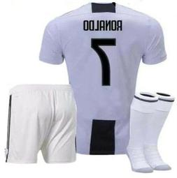 Ronaldo Juvi Kids Set Soccer Jersey Home Uniform Youth Child