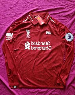 Salah & Firmino 2018/19 Liverpool Home Red Long Sleeve Jerse