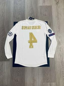 Sergio Ramos Soccer Jersey Long Sleeve Player Version Real M