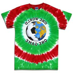 Short Sleeve Mexico Soccer One World Tie Dye T-Shirt Jersey-