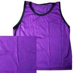 Single YOUTH GIRLS PURPLE Scrimmage Vests for Team Sports-So